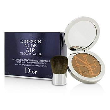 Diorskin Nude Air Healthy Glow Radiance Powder (With Kabuki Brush)  10g/0.35oz