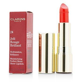 Clarins Joli Rouge Brillant (Moisturizing Perfect Shine Sheer Lipstick) - # 24 Watermelon  3.5g/0.1oz