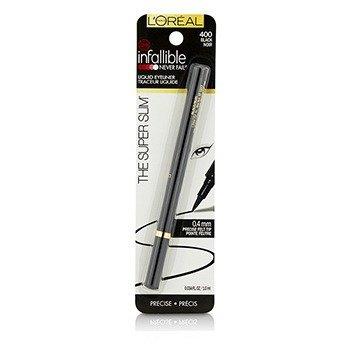 L'Oreal Infallible The Super Slim Liquid Eyeliner - # 400 Black  1ml/0.034oz