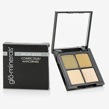 GloMinerals Brow Quad (2x Brow Powder, 1x Brow Highlighter, 1x Brow Wax) - Taupe  4.15g/0.14oz