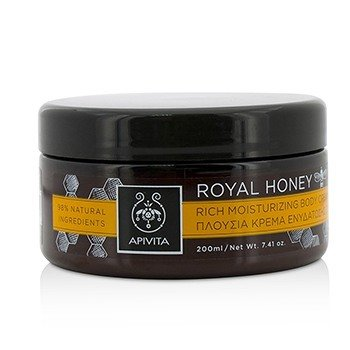 Apivita Royal Honey Rich Moisturizing Body Cream  200ml/7.41oz