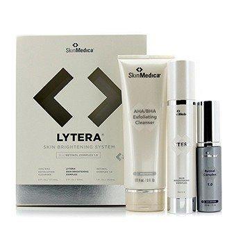 Skin Medica Lytera Sistema Iluminante de Piel con Complejo de Retinol 1.0: AHA/BHA Limpiador  + Complejo Iluminante + Complejo de Retinol 1.0  3pcs