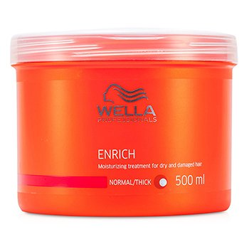 Wella Enrich Tratamiento Hidratante Cabellos Secos y Estropeados (Normal/Grueso=  500ml/16.7oz