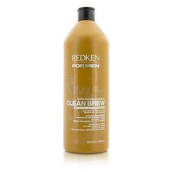 Redken Men Clean Brew Extra Cleansing Shampoo (Extra Clean Hair, Balanced Scalp)  1000ml/33.8oz