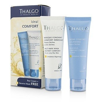 Thalgo Kit Ideal Comfort: Delicious Comfort Crema 50ml + Melt-Away Mascarilla 50ml  2pcs