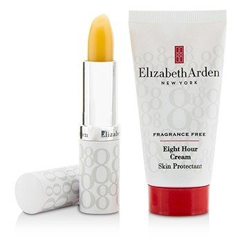 Eight Hour Cream Set: Eight Hour Cream Skin Protectant Fragrance Free 28g/1oz + Lip Protectant Stick SPF 15 3.7g/0.13oz + Bag  2pcs+1bag