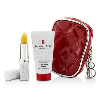 Elizabeth Arden Set Eight Hour Cream: Eight Hour Crema de Piel Protectora Sin Fragancia 28g/1oz + Barra Protectora de Labios SPF 15 3.7g/0.13oz + Bolsa  2pcs+1bag