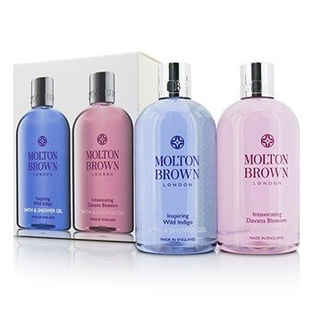 Molton Brown Zestaw Body Wash Set: Inspiring Wild Indigo 300ml/10oz + Intoxicating Davana Blossom 300ml/10oz  2pcs