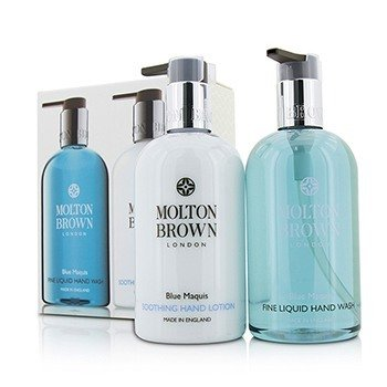Molton Brown Blue Maquis Hand Care Set: Fine Liquid Hand Wash 300ml/10oz + Soothing Hand Lotion 300ml/10oz  2pcs