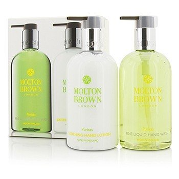 Molton Brown Zestaw Puritas Hand Care Set: Fine Liquid Hand Wash 300ml/10oz + Soothing Hand Lotion 300ml/10oz  2pcs