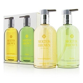 Molton Brown Set de Jabón de Manos Líquido: Lemon & Mandarin 300ml/10oz + Puritas 300ml/10oz  2pcs