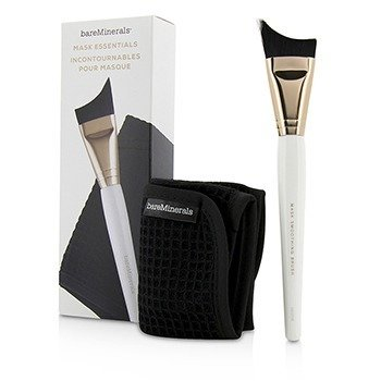 BareMinerals Mask Essentials - Smoothing Brush And Removal Cloth - Sikat dan Kain  2pcs