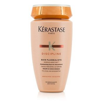 Discipline Bain Fluidealiste Smooth-In-Motion Sulfate Free Shampoo - For Unruly, Over-Processed Hair (New Packaging)  250ml/8.5oz