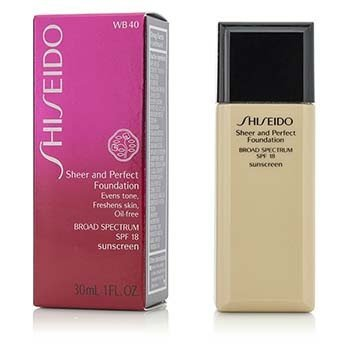 Shiseido Sheer & Perfect Foundation SPF 18 - # WB40 Natural Fair Warm Beige  30ml/1oz