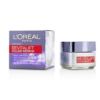 L'Oreal Revitalift Filler Renew Replumping Care Anti-Ageing Day Cream - All Skin Types, even Sensitive  50ml/1.7oz