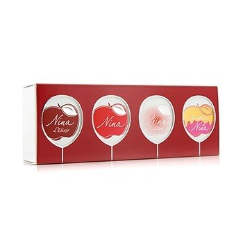 Miniature Coffret: Nina + Nina L'Eau + Nina L'Elixir + Nina Les Delices 4x4ml/0.14oz