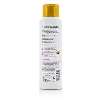 Organic Almond Oil & Organic Macadamia Oil Deep Care & Repair 2 in 1 Shampoo/ Conditioner (For Very Dry, Damaged Hair) 250ml/8.3oz