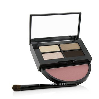 Instant Pretty Eye & Cheek Palette (3x Eye Shadow, 1x Metallic Eye Shadow, 1x Blush, 1x Mini Eye Shadow Brush)  -