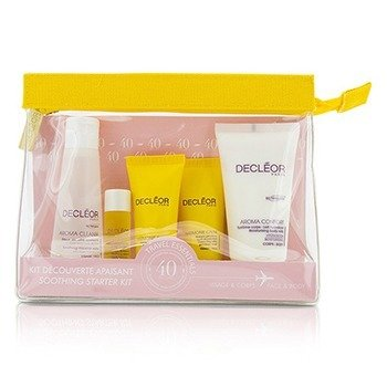 Decleor Zestaw starterowy Soothing Starter Kit:Micellar Water 50ml+Serum 5ml+Harmonie Calm Milky Cream 15ml+Gel-Cream Mask 15ml+Body Milk 50ml+Bag  5pcs+1bag