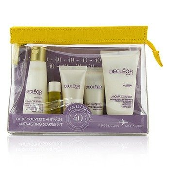 Decleor Anti Aging Starter Kit:Cleansing Milk 50ml+Mask 15ml+Rejuvenating Serum 5ml+Dry Skin Day Cream 15ml+Body Milk 50ml+Bag  5pcs+1bag
