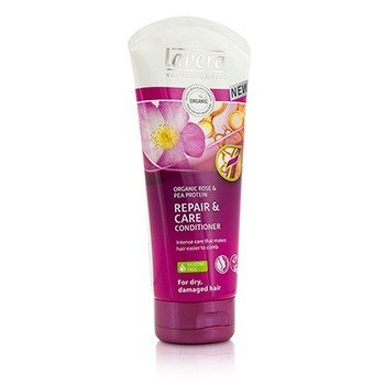 Organic Rose & Pea Protein Repair & Care Conditioner (For Dry, Damaged Hair)  200ml/6.6oz