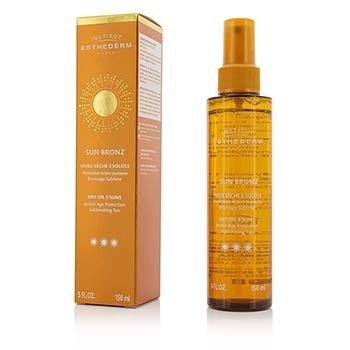 Esthederm Sun Bronz Dry Oil 3 Suns Active Age Protection Sublimating Tan - Strong Sun - For Body & Hair  150ml/5oz