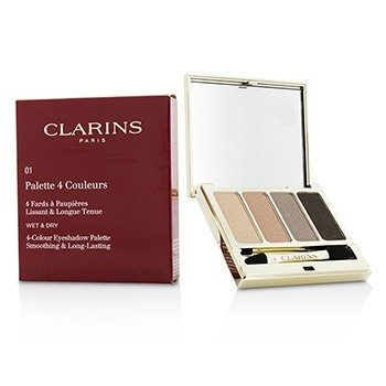 Clarins Paleta 4 cieni do powiek 4 Colour Eyeshadow Palette (Smoothing & Long Lasting) - #01 Nude  6.9g/0.2oz