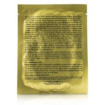 Un-Wrinkle 24K Gold Intense Wrinkle Sheet Mask  6x25ml/0.85oz