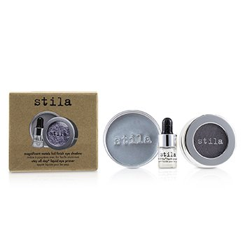 Stila Magnificent Metals Foil Finish Sombra de Ojos Con Mini Primer de Ojos Líquido - Metallic Lavender  2pcs