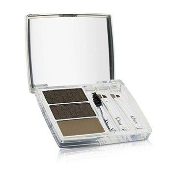 All In Brow 3D Long Wear Brow Contour Kit (2x Eyebrow Powder, 1x Eyebrow Wax, 3x Mini Applicator)  7.5g/0.26oz