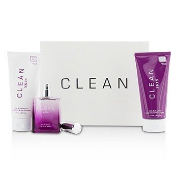 Clean Clean Skin Coffret: Eau De Parfum Spray 60ml/2.14oz + Bath & Shower Gel 177ml/6oz + Body Lotion 177ml/6oz  3pcs