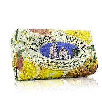 Dolce Vivere Fine Natural Soap - Capri - Orange Blossom, Frosted Mandarine & Basil 250g/8.8oz