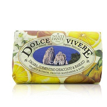 Dolce Vivere Fine Natural Soap - Capri - Orange Blossom, Frosted Mandarine & Basil  250g/8.8oz