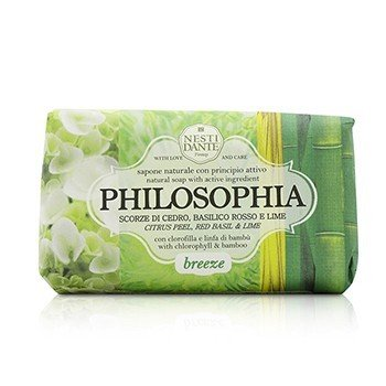 Philosophia Natural Soap - Breeze - Citrus Peel, Red Basil & Lime With Chlorophyll & Bamboo  250g/8.8oz