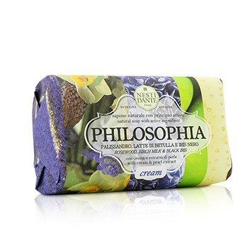 Philosophia Natural Soap - Cream - Rosewood, Birch Milk & Black Iris With Cream & Pearl Extract  250g/8.8oz