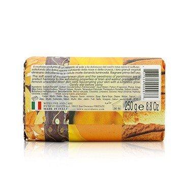 Philosophia Natural Soap - Scrub - Mediterranean Plum, Persimmon & Amber With Bran & Walnut Granules  250g/8.8oz