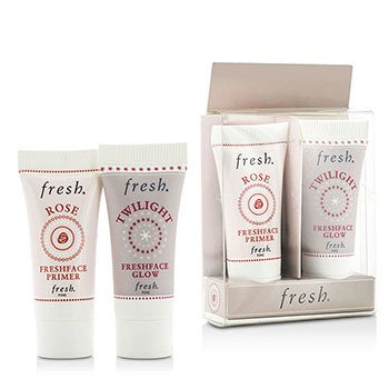 Prime & Glow Set Duo Pack : 1x Mini Rose Freshface Primer, 1x Mini Twilight Freshface Glow  2 Sets