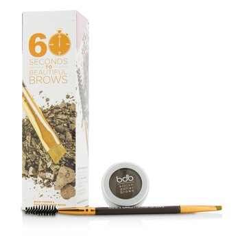 60 Seconds To Beautiful Brows Kit (1x Brow Powder, 1x Dual Ended Brow Brush) 2pcs