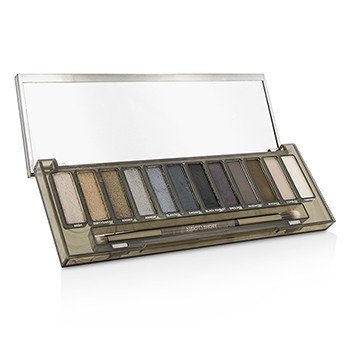 Naked Smoky Eyeshadow Palette (12x Eyeshadow, 1x Doubled Ended Smoky Smudger/Tapered Crease Brush)  -
