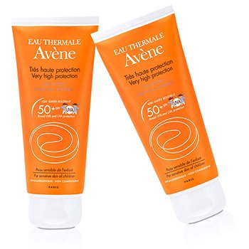 Avene Very High Protection Lotion SPF 50+ Duo Pack (For Sensitive Skin of Children)  2x100ml/3.3oz