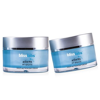 Bliss Blisslabs Active 99.0 Anti-Aging Series Multi-Action Day Cream Duo Pack  2x50ml/1.7oz