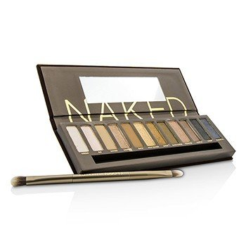 Naked Eyeshadow Palette: 12x Eyeshadow, 1x Doubled Ended Shadow/Blending Brush  -