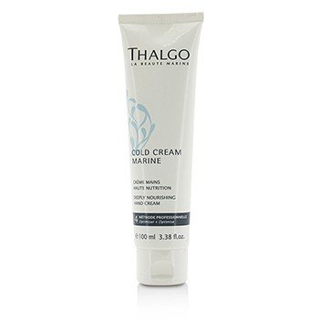 Thalgo Cold Cream Marine Deeply Nourishing Hand Cream - For Dry, Very Dry Hands (Salon Size)  100ml/3.38oz