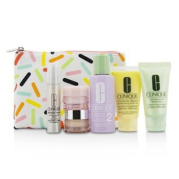 クリニーク Travel Set: Sonic Facial Soap + Clarifying Lotion 2 + DDML + Smart Serum + Moisture Surge Intense +  6pcs + 1bag