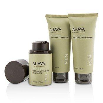 Travel Essentials For Men Set: Exfoliating Cleansing Gel 100ml + Shaving Cream 100ml + After-Shave Moisturizer 50ml  3pcs