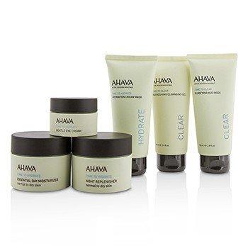 Hydrating Beauty Case Set: Cleansing Gel 100ml+Mud Mask 100ml+Cream Mask 100ml+Day 50ml+Night 50ml+Eye Cream 15ml+Bag  6pcs+1bag