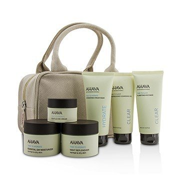 アハバ Hydrating Beauty Case Set: Cleansing Gel 100ml+Mud Mask 100ml+Cream Mask 100ml+Day 50ml+Night 50ml+Eye Cream 15ml+Bag  6pcs+1bag