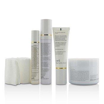Restorative Ritual Set: Cleanser 200ml+Face Treatment 50ml+Eye Treatment 15ml+Daily Protection SPF 50 50ml+Muslin Cloth  5pcs