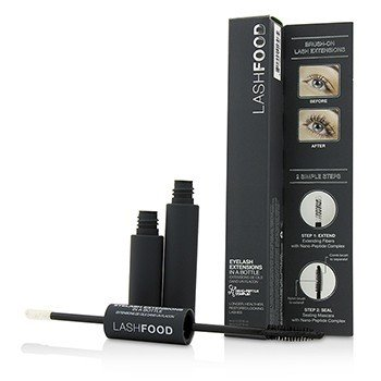 LashFood Eyelash Extensions In A Bottle (1x Extending Fibers, 1x Sealing Mascara)  14ml/0.47oz