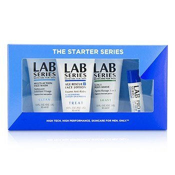 アラミス Lab Series The Starter Series : Multi-Action Face Wash 30ml + Face Lotion 30ml + Post Shave 30ml + Lip Balm 4.3g  4pcs
